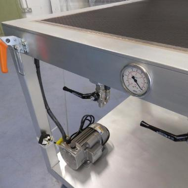 Custom built vacuum bench press