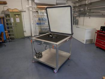 bespoke Trolley silicone membrane vacuum bench press